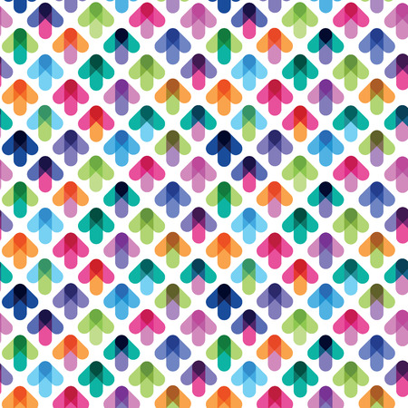 seamless pattern from color arrows Illustration