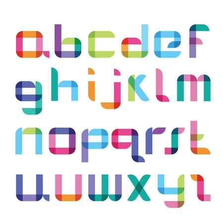 imposing: new color font Illustration