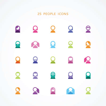 hairdress: 25 people icons