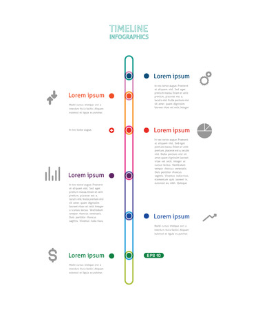 easy money: colorful timeline Illustration