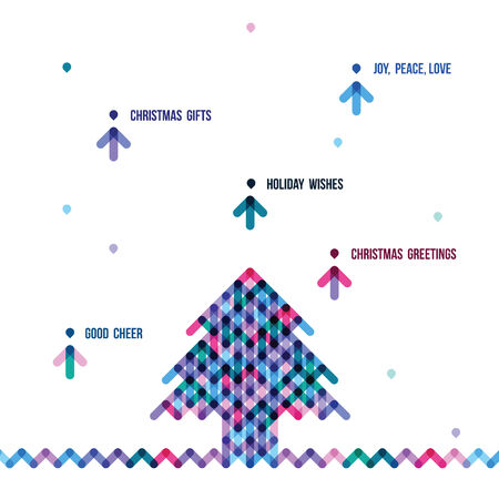 the stylized colorful Christmas tree from arrows Illustration