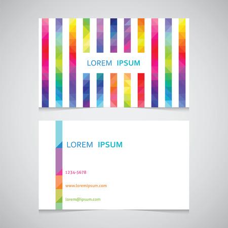 색 삼각형에서 스트립에서 비즈니스 카드 템플릿