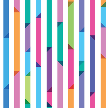 seamless pattern from color strips with triangles