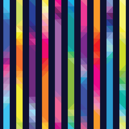 strips with color transition from triangles against a dark background a seamless pattern Ilustrace