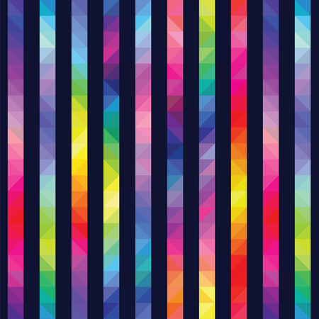strips from color triangles against a dark background a seamless pattern Illustration