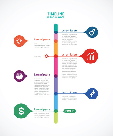 colorful timeline infographics Illustration