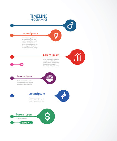 template colorful timeline infographics