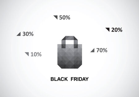 auction off: the stylized package with a tone extension for black Friday Illustration