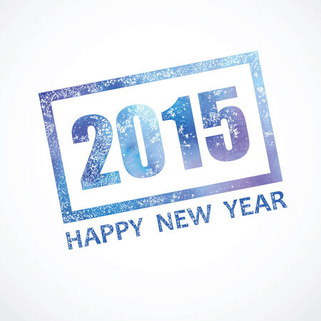 picturesque: picturesque stamp about 2015 new year Illustration