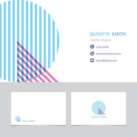편지 Q 비즈니스 카드 템플릿