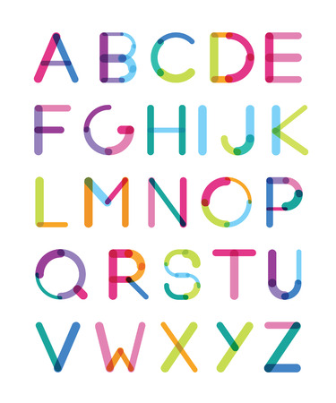 imposing: the bright font consisting of details of different thickness capital letters