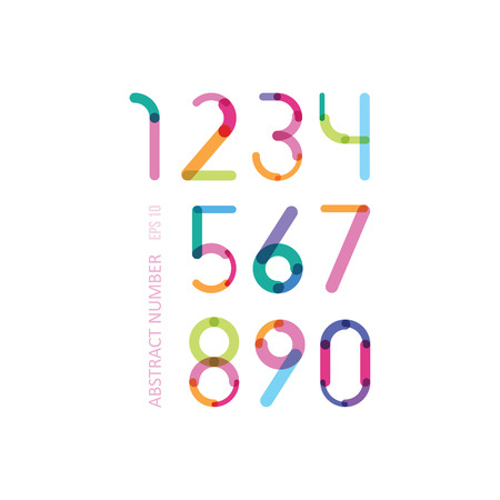 the bright numbers consisting of details of different thickness