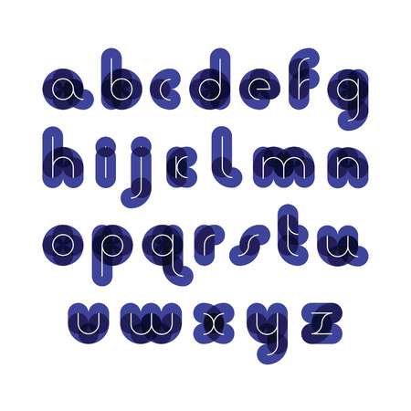 imposing: font from colorful thick figures for a background with thin white letters Illustration