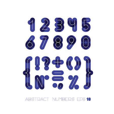 imposing: serie di numeri e simboli di figure di spessore scuro per uno sfondo con il bianco sottile da oltre Vettoriali