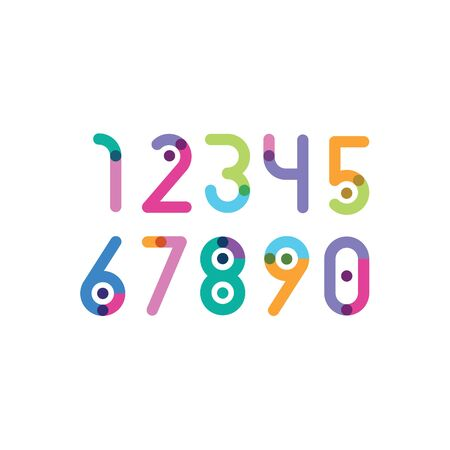 numbers with a bright point