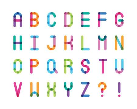 abstract color alphabet capital letters Illustration