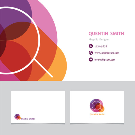 business card: business card template letter M