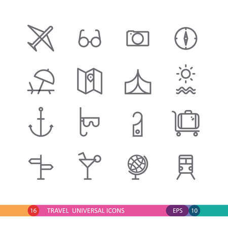 universal: set of  travel universal icons Illustration