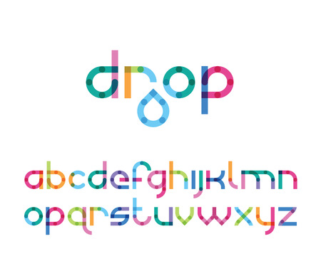 color font drop Illustration