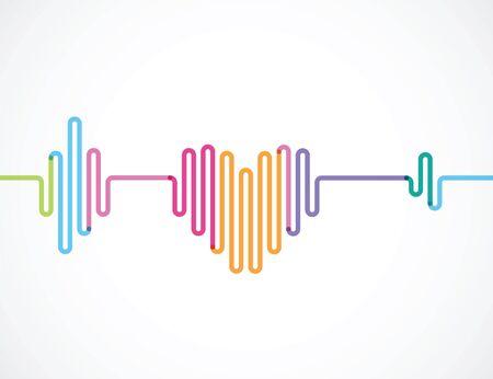 color rhythm of heart