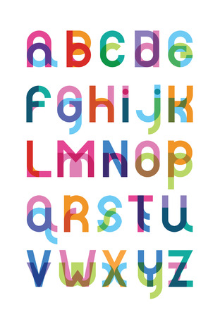 transparency color: color font from a capital and lower case letter with effect of transparency Illustration