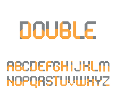 two point: geometrical font consisting of a capital and lower case letter