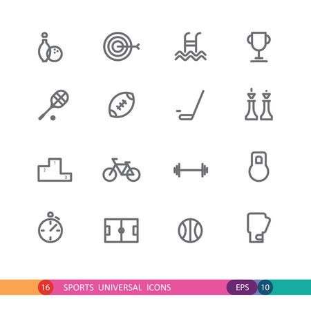 set of  sports universal icons