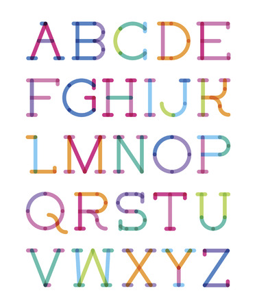 serif: font serif with effect of transparency Illustration