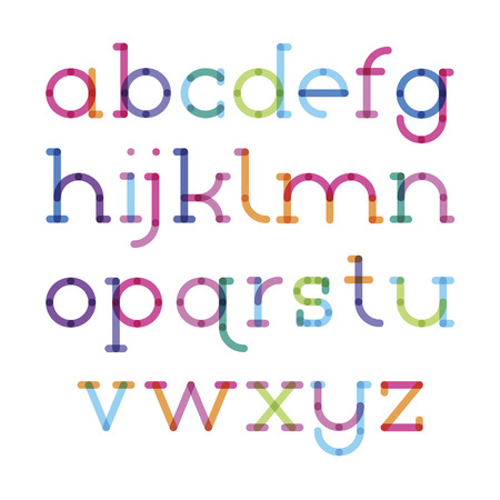 serif: font serif with effect of transparency lower case letters Illustration