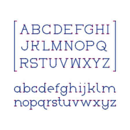 Deux couleurs serif Banque d'images - 64729642