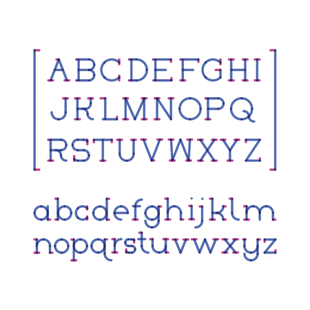 imposing: two colors font serif