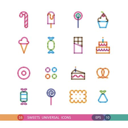 transparency: sweets icon with effect of transparency Illustration