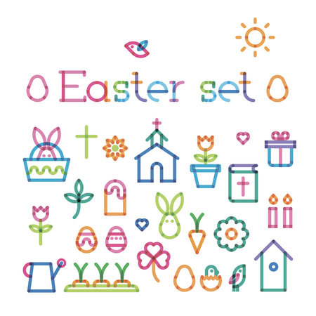transparency: Easter set with effect of transparency Illustration
