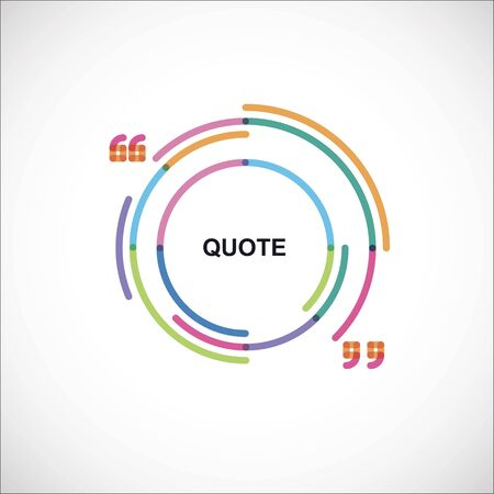 radius: color frame with quotes Illustration