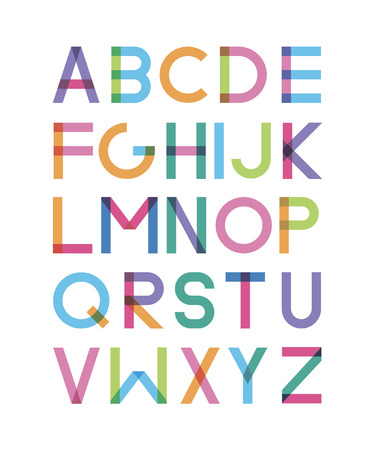 transparency: bright font with effect of transparency Illustration