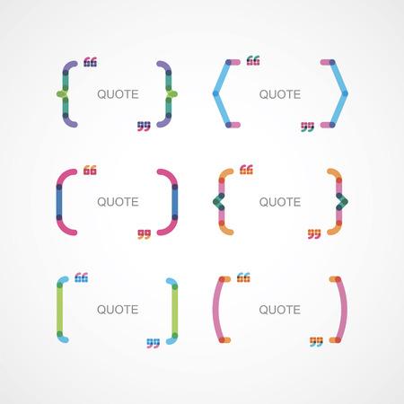 soportes de color con citas Ilustración de vector