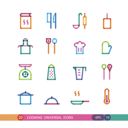 universal: cooking universal icons with effect of transparency Illustration