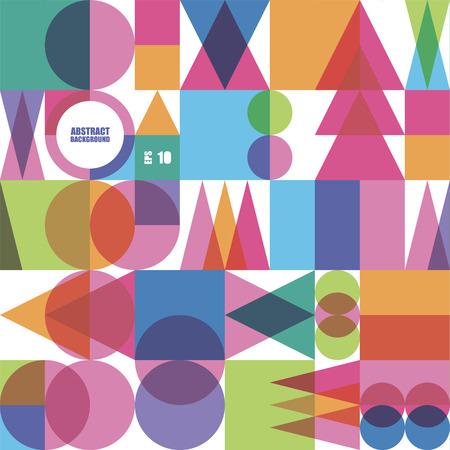 color abstract seamless pattern from different geometrical figures Vektoros illusztráció