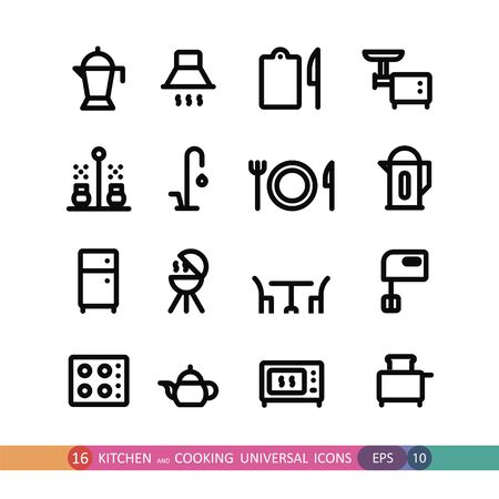 gas barbecue: kitchen and cooking universal icons