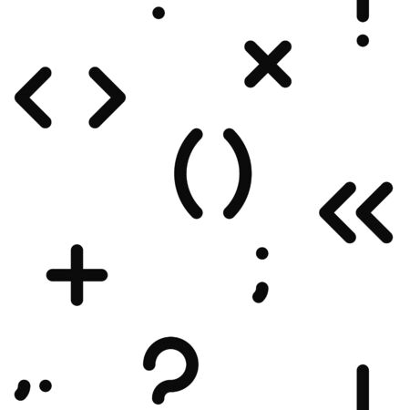 parentheses: seamless pattern with symbols