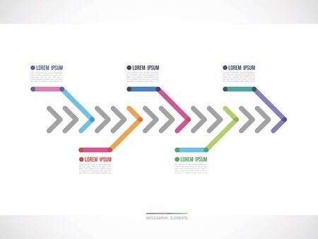 timeline from color arrows