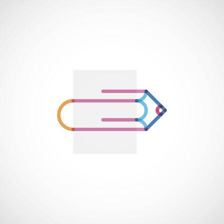 lapiz y papel: clip de papel lápiz Vectores