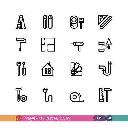 universal icons: set of universal icons repair