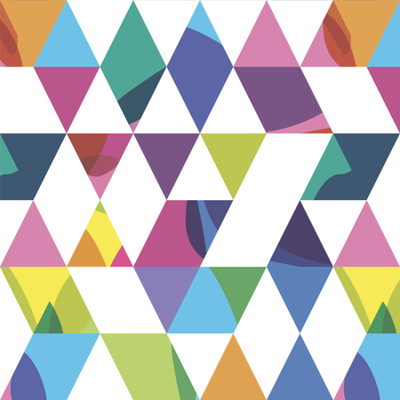geometrical: seamless pattern from randomly triangles with color spots Illustration