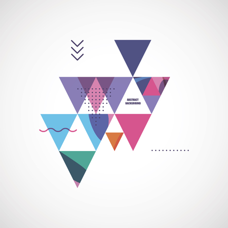 are modern: abstract modern geometric background Illustration