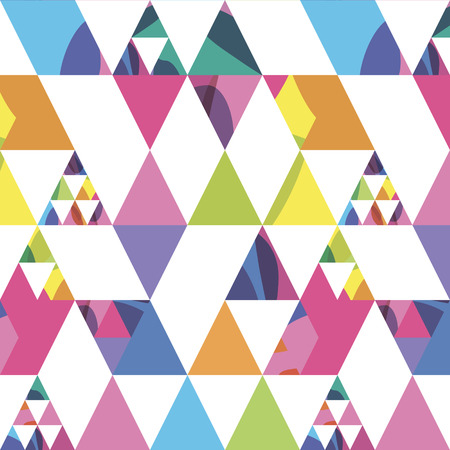 seamless pattern from triangles different size with bright spots Illustration