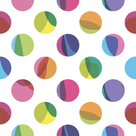 circles pattern: seamless pattern with color circles Illustration