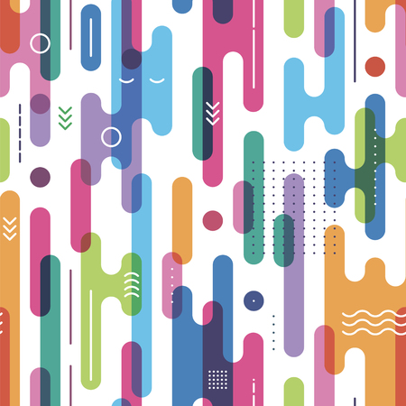 abstract figures: seamless pattern from bright abstract figures