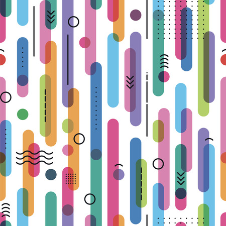 seamless pattern from the color crossed sticks with linear elements