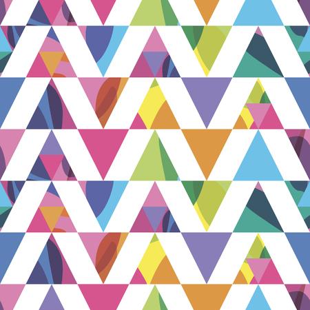 bright: seamless pattern bright triangles Illustration